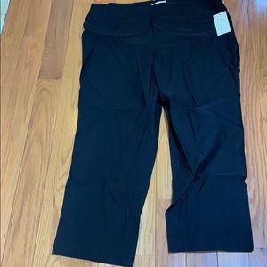 Sejour Black cropped Pants Size 20